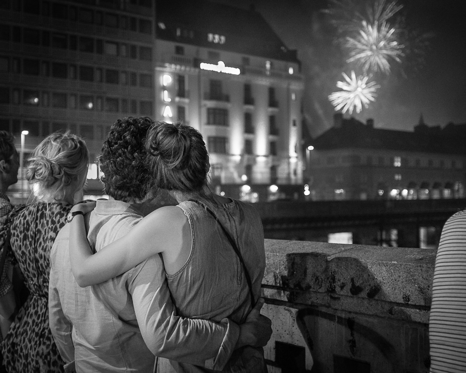 Lovers and fireworks